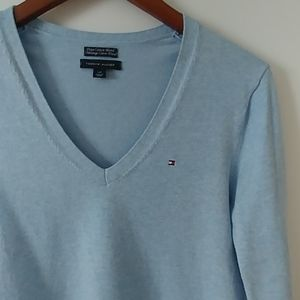 Tommy Hilfiger Baby Blue Sweater - Large